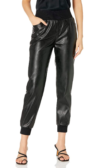 Kendall + Kylie Vegan Leather Jogger (Photo via Amazon)