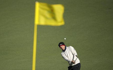 Bernd Wiesberger of Austria hits to the second green flag during the 2017 Masters in Augusta
