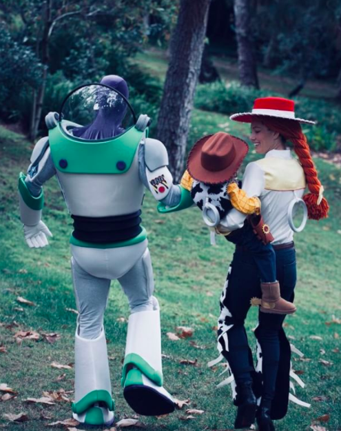 """<p>It was a <em>Toy Story</em> kind of year for the singer, his wife, Jessica Biel, and their son, Silas. """"If you see us in these streets then have your candy ready! Trick-or-Treat, little homies! — Woody, Jesse, and Buzz,"""" wrote JT. (Photo: <a href=""""https://www.instagram.com/p/Ba7f_tQhmcE/?hl=en&taken-by=justintimberlake"""" rel=""""nofollow noopener"""" target=""""_blank"""" data-ylk=""""slk:Justin Timberlake via Instagram"""" class=""""link rapid-noclick-resp"""">Justin Timberlake via Instagram</a>) </p>"""