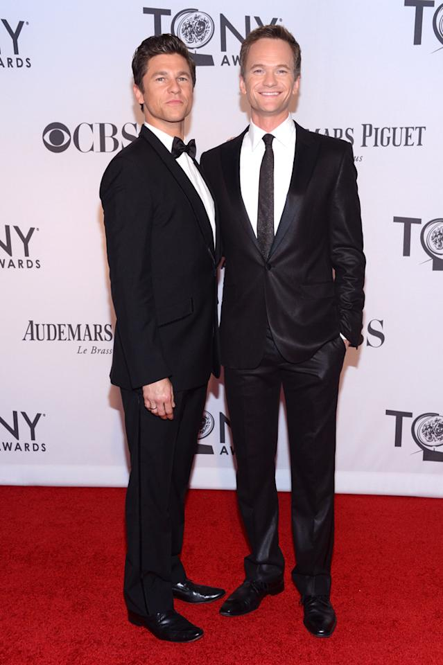 Neil Patrick Harris and David Burtka attend the 66th Annual Tony Awards at The Beacon Theatre on June 10, 2012 in New York City.
