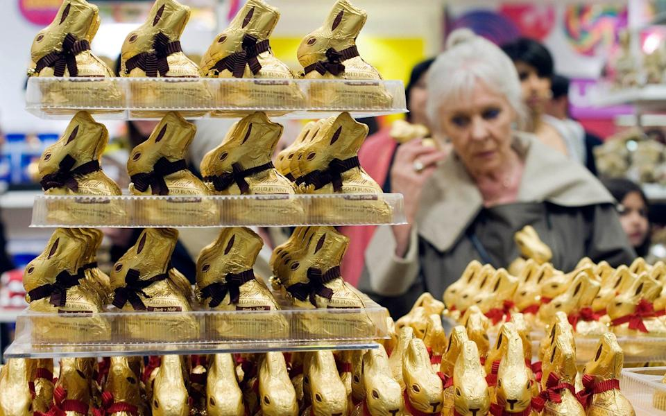 Lindt's chocolate bunnies are famous for their gold wrapper - Geoff Pugh