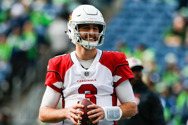 Remember me? The Cardinals' social media team re-cut Arizona's schedule release video to include starting quarterback Josh Rosen. (Getty Images)