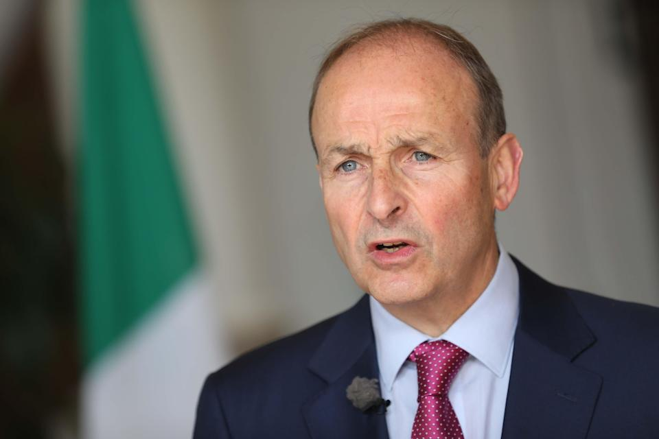 Taoiseach Micheal Martin at a press conference (Julien Behal Photography/PA) (PA Media)