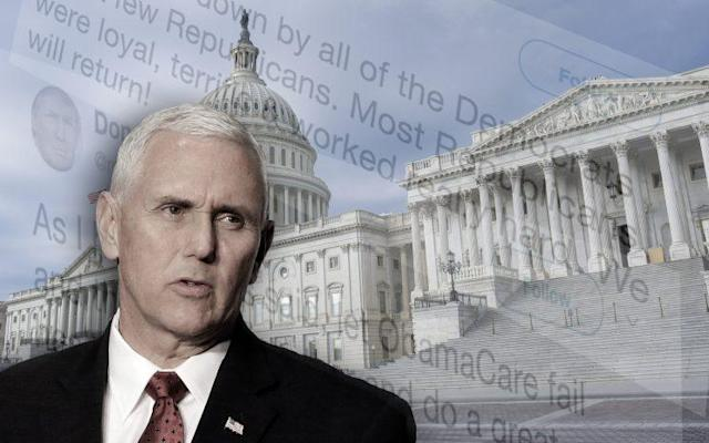 Pence turns up the heat on health care after Senate stalls