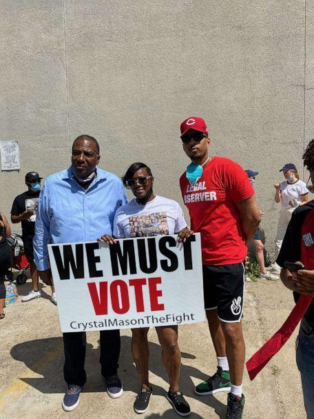 PHOTO: Crystal Mason stands with supporters in an undated photo. (Courtesy of Crystal Mason)