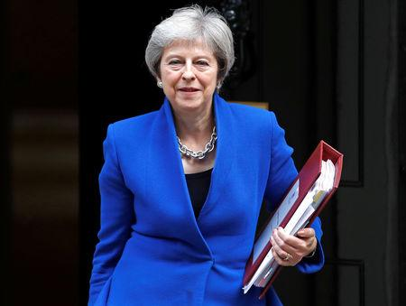 Briatin's Prime Minister Theresa May leaves 10 Downing Street in London