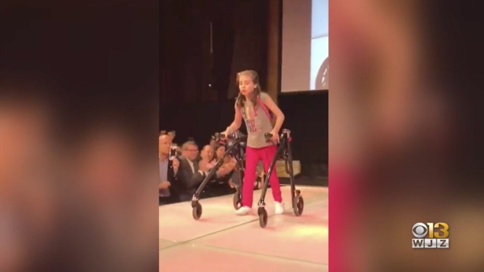 Faith Guilbault, 15, will walk in Kohl's New York Fashion Week show, modeling their new adaptive clothing line. (Photo: WJZ)