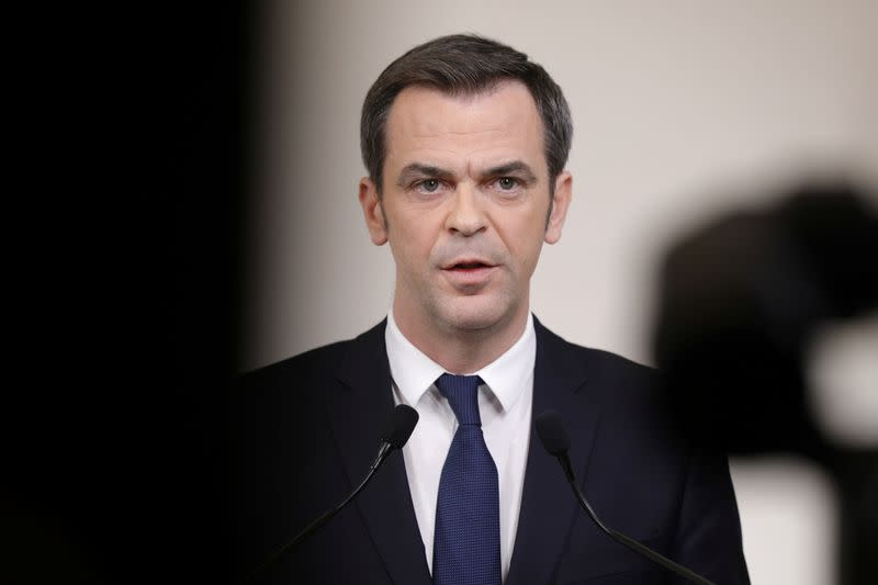 French PM Philippe and Health Minister Veran give a news conference on the coronavirus outbreak