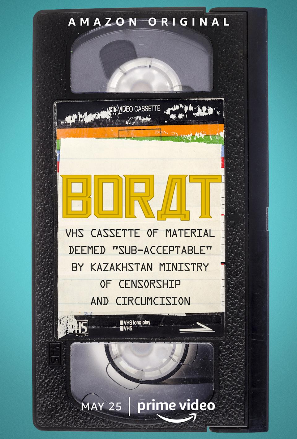"""Borat: VHS Cassette of Material Deemed """"Sub-acceptable"""" By Kazakhstan Ministry of Censorship and Circumcision features never before seen footage from the Oscar-nominated movie Borat Subsequent Moviefilm. (Amazon)"""