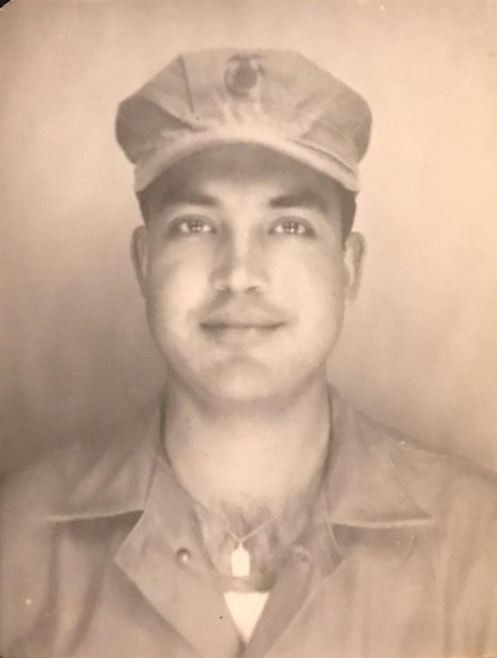 Otto Bowless as a young Marine. A resident of Elmwood Park, New Jersey, he was born in Guatemala, and died of COVID on Nov. 23, 2020 at age 93.