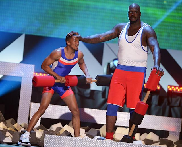 Nick Cannon and Shaquille O'Neal (Photo: Jason Kempin/WireImage)