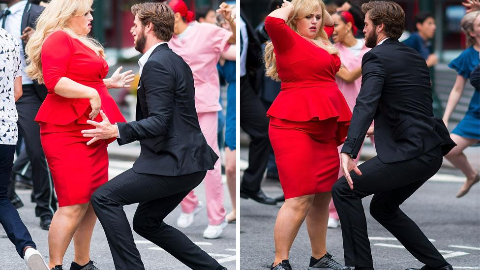 <p>Rebel Wilson and Liam Hemsworth's insane dance number in New York City. Source: Getty </p>