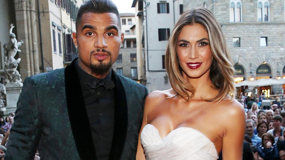 Kevin-Prince Boateng and Melissa Satta, pictured here in Italy in 2015.
