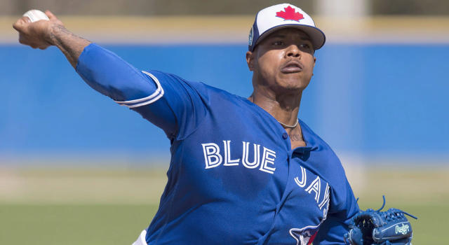 Toronto Blue Jays pitcher Marcus Stroman is working his way towards full strength. (Frank Gunn/CP)