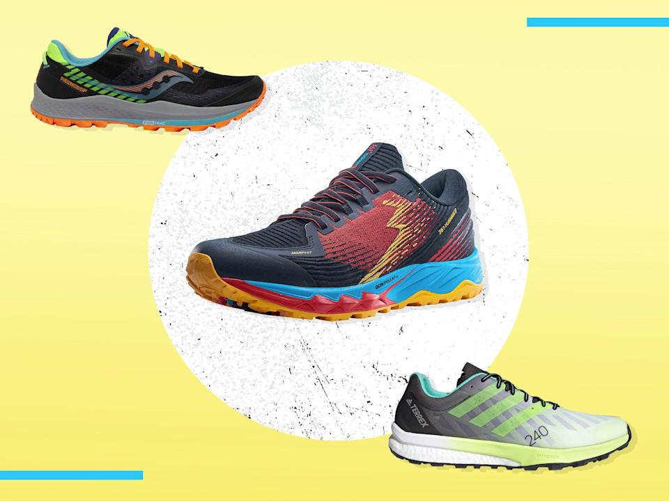 <p>Look for lightweight runners with plenty of energy return, as well as traction and protection from uneven, wet ground </p> (iStock/The Independent )