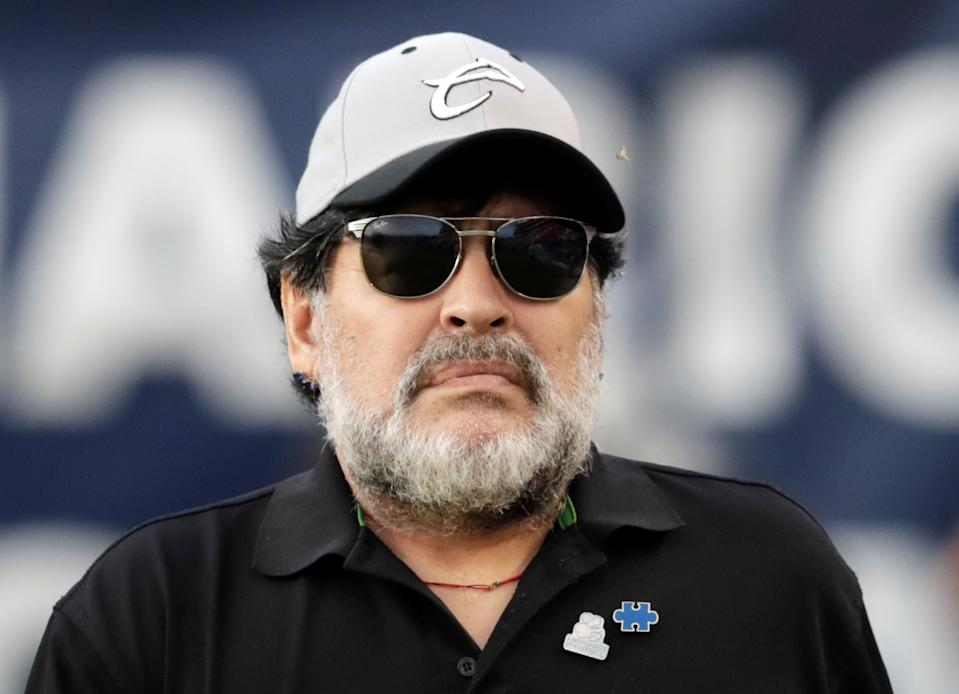 Soccer Football - Ascenso MX Final - Second Leg - Atletico San Luis v Dorados, Alfonso Lastras Stadium, San Luis Potosi, Mexico - May 5, 2019    Dorados coach Diego Armando Maradona before the match        REUTERS/Henry Romero