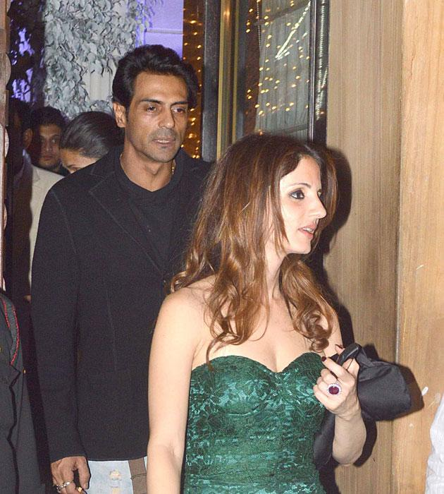 Suzzane Roshan arrives for the bash