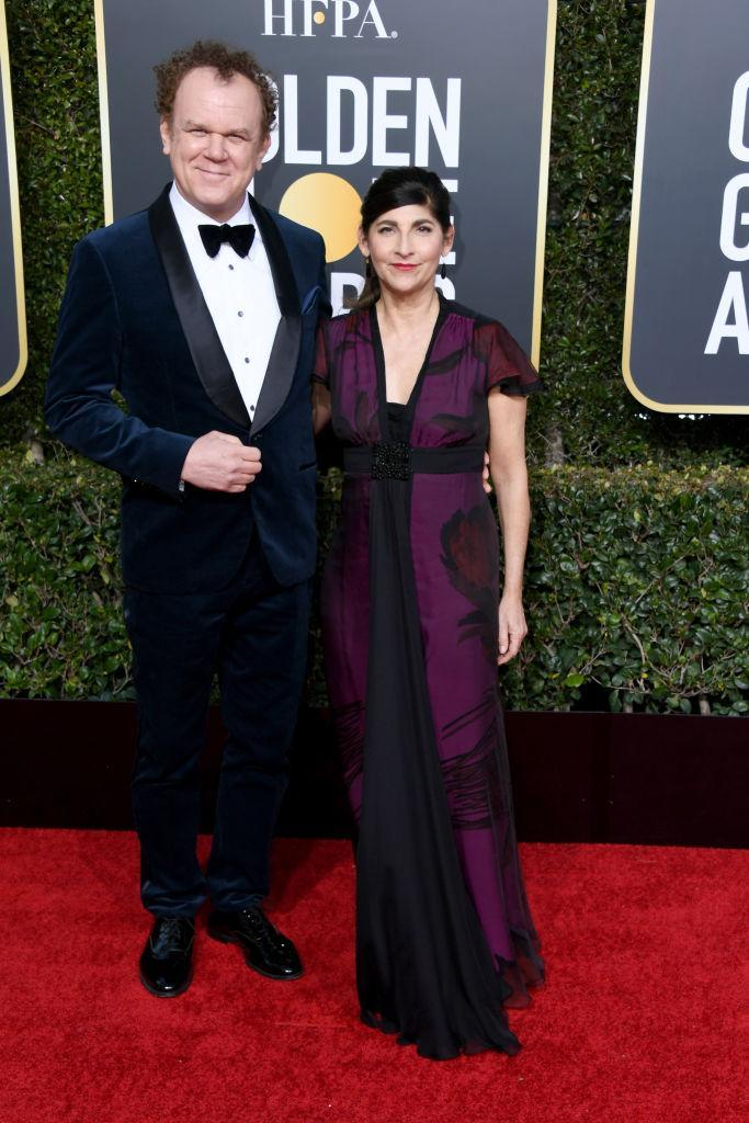 <p>John C. Reilly and Alison Dickey attend the 76th Annual Golden Globe Awards at the Beverly Hilton Hotel in Beverly Hills, Calif., on Jan. 6, 2019. (Photo: Getty Images) </p>