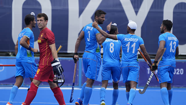 India men's hockey team recovered from their 1-7 hammering against Australia, as goals from Simranjeet Singh and Rupinder Pal Singh gave them a 3-0 victory over Spain. AP