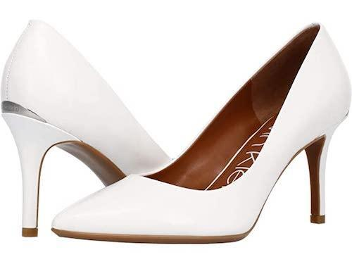 calvin klein, white pumps