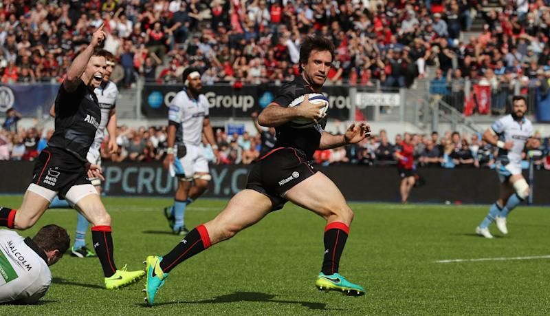 Saracens reached the semi-finals of the European Champions Cup with a 38-13 victory over Glasgow Warriors: Getty