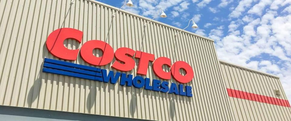 Lewisville, TX, USA- APR 20, 2018: Logo of Costco storefront.