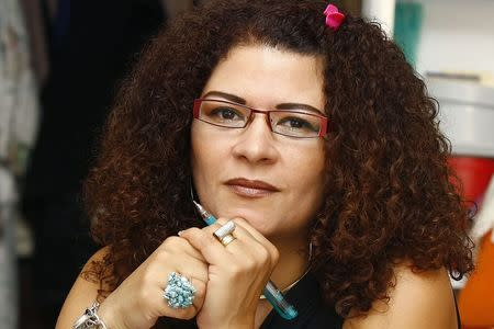 Prominent Egyptian poet Fatima Naoot is pictured in Cairo