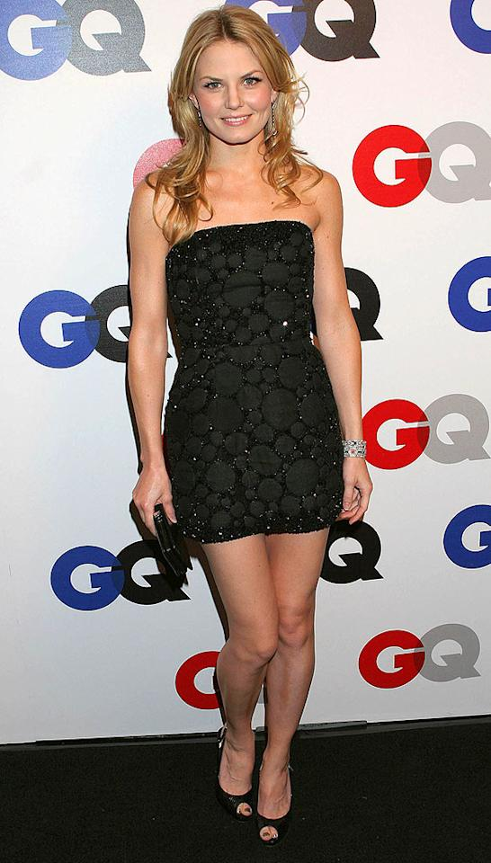 """House's"" Jennifer Morrison looks ready to party in her LBD and peep toe heels. Carlos Diaz/<a href=""http://www.infdaily.com"" target=""new"">INFDaily.com</a> - December 5, 2007"