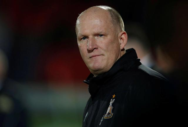 "Soccer Football - League One - Doncaster Rovers vs Bradford City - Keepmoat Stadium, Doncaster, Britain - March 19, 2018 Bradford City Manager Simon Grayson Action Images/Craig Brough EDITORIAL USE ONLY. No use with unauthorized audio, video, data, fixture lists, club/league logos or ""live"" services. Online in-match use limited to 75 images, no video emulation. No use in betting, games or single club/league/player publications. Please contact your account representative for further details."