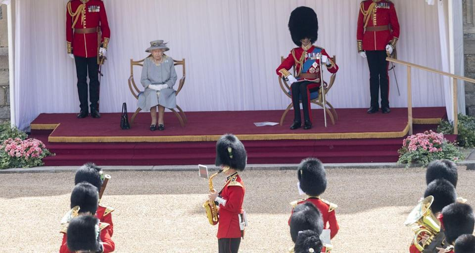 <p>This year, the Queen was accompanied by her cousin, the Duke of Kent. </p>