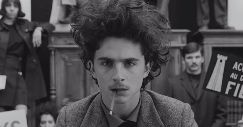 Timothée Chalamet in The French Dispatch, 2020
