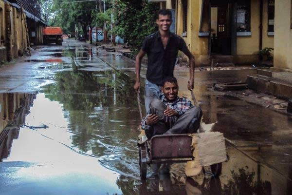 "<em>""Rain mein nahao ….crazy kehlao""</em> <br><b>June end 2012 </b><br><br>Prashant gives his colleague Hassan a joy ride in the rain after a long day's work. Hassan was unwell, and cooped up at home all day. <br><br>Prashant not only was crazy enough to step in for Hassan's night shift but also make a sad day, happy with a momentary ride in the rain!"