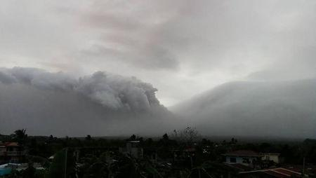 Mount Mayon erupts in Legazpi City, Philippines, January 13, 2018 in this still obtained from social media. Picture taken January 13, 2018. Raymund Mark Nayve/via REUTERS