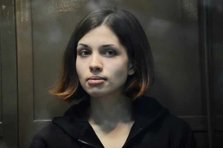 Nadezhda Tolokonnikova during her appeals hearing in Moscow, on October 10, 2012
