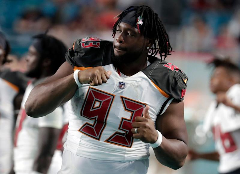 0c19b928a13 Tampa Bay Buccaneers defensive tackle Gerald McCoy (93) was working out on  Cinco de