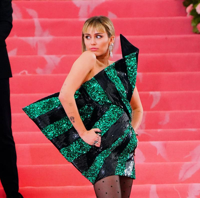 NEW YORK, NY - MAY 06: Miley Cyrus attends the 2019 Met Gala celebrating 'Camp: Notes on Fashion' at the Metropolitan Museum of Art on May 06, 2019 in New York City. (Photo by Gotham/GC Images)