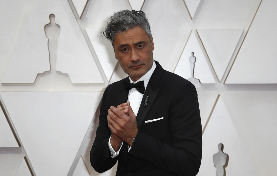 Taika Waititi poses on the red carpet during the Oscars arrivals at the 92nd Academy Awards in Hollywood, Los Angeles, California, U.S., February 9, 2020. REUTERS/Eric Gaillard