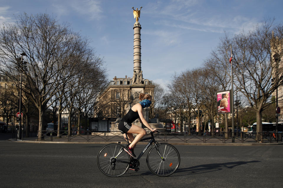 Cycling has been banned in Paris, as well as jogging during the day.