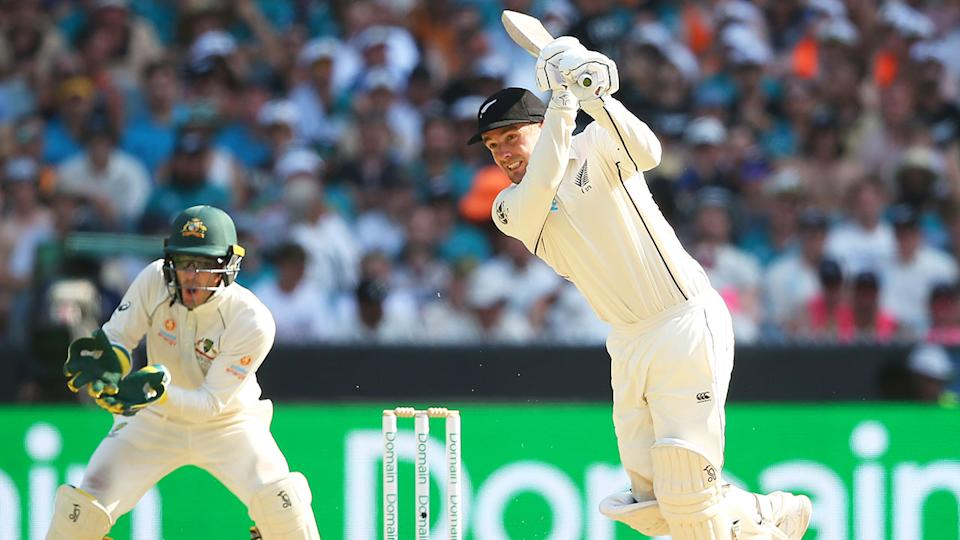 New Zealand's Tom Blundell scored a superb century at the MCG.
