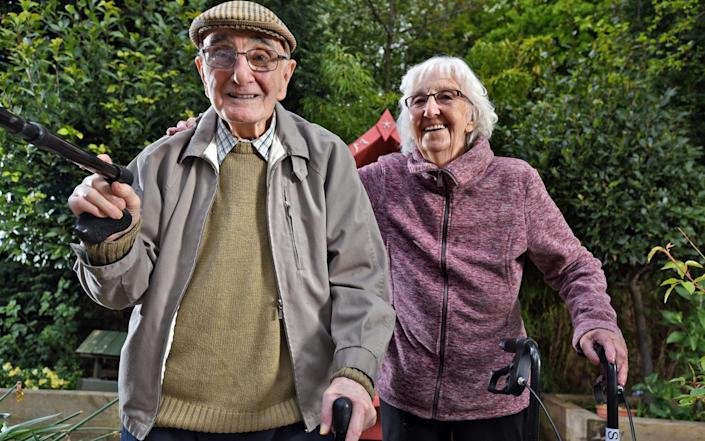 Colin Atkinson and June Stephenson are among the residents that have starred in Ashworth Grange's TikTok videos - Asadour Guzelian/Guzelian Ltd