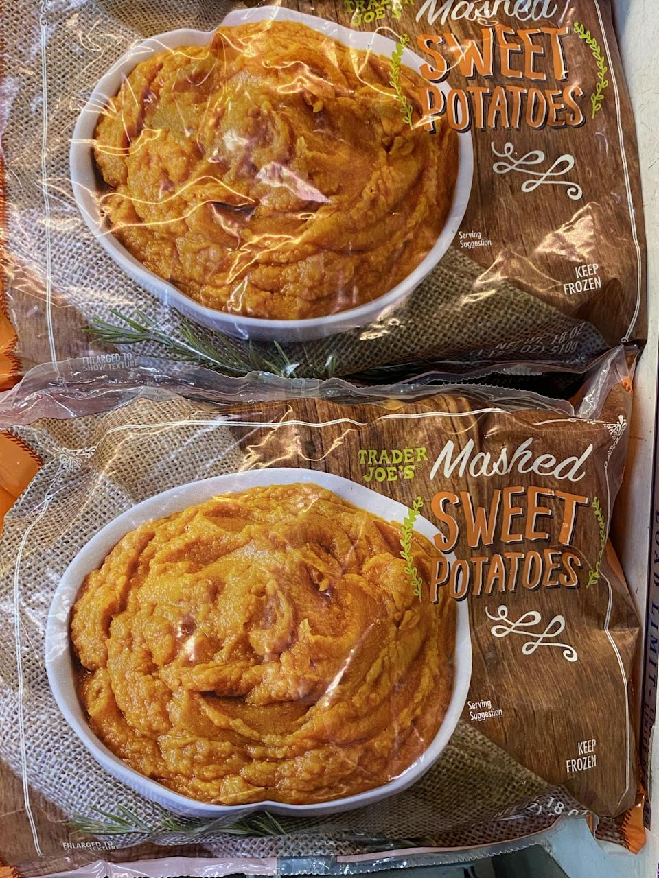 <p>OK, so this is not exactly pumpkin, but it's similar in flavor and a genius idea and timesaver. You'll love that this has only one ingredient - sweet potatoes!</p>