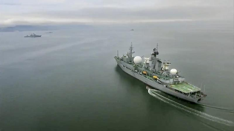 The Russian navy has conducted massive war games near Alaska involving dozens of ships and aircraft, the biggest such drills in the area since Soviet times.
