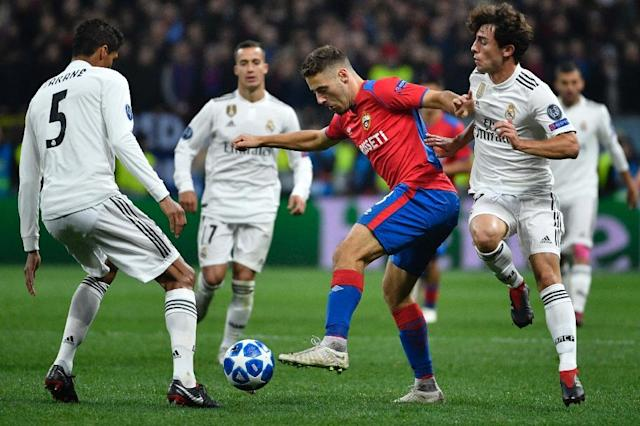 Nikola Vlasic scored CSKA Moscow's winner against Real Madrid at the Luzhniki Stadium (AFP Photo/Alexander NEMENOV)