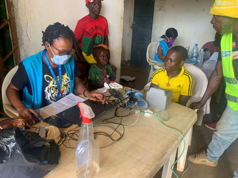 A boy who fled the violent rebellion in Central African Republic (CAR) is being enrolled and identified by an UNHCR officer in the border town of Garoua Boulai