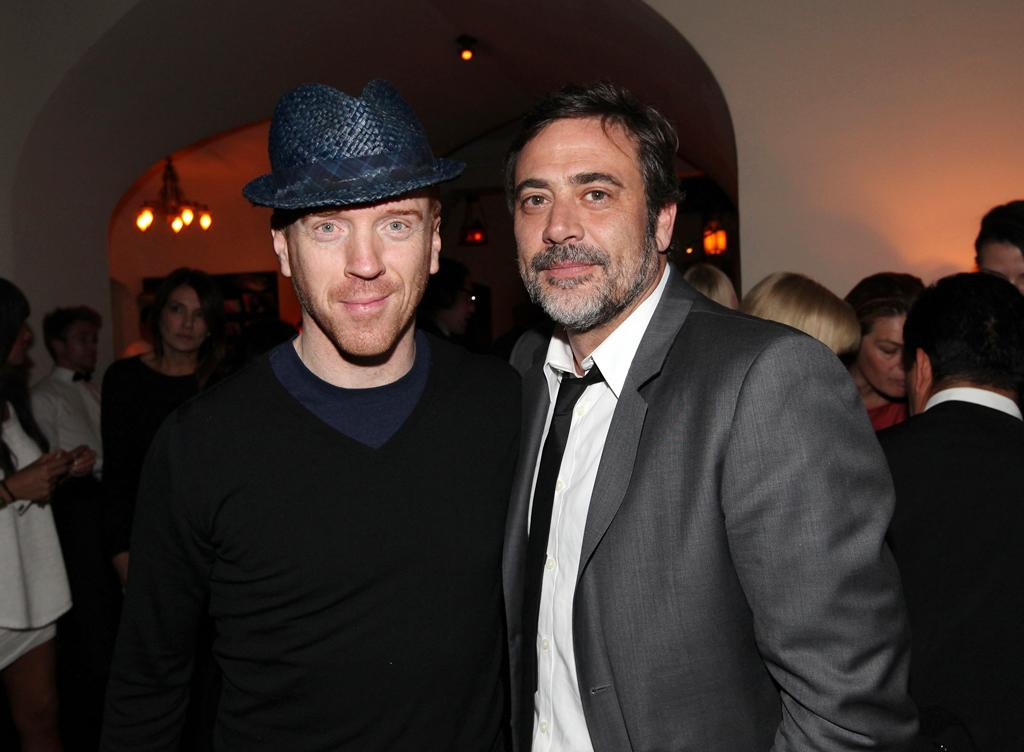 """Damian Lewis and Jeffrey Dean Morgan attend the Starz '<a target=""""_blank"""" href=""""http://tv.yahoo.com/magic-city/show/46996"""">Magic City</a>' after party at Chateau Marmont on March 20, 2012 in Los Angeles, California."""