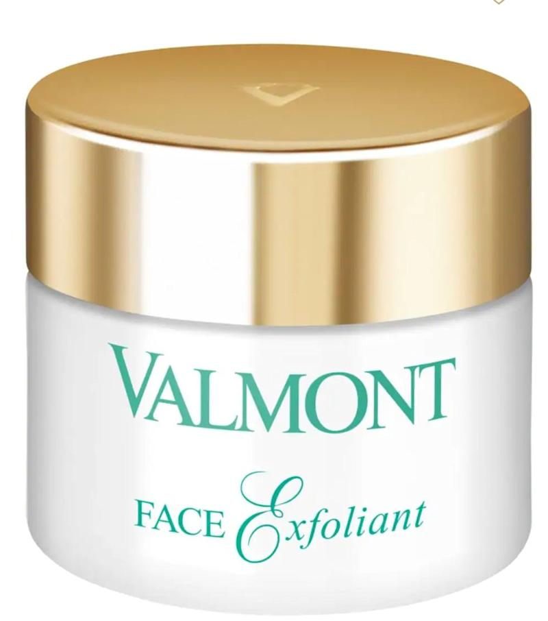 """Once the skin is thoroughly cleansed, it's nice to do a scrub such as Valmont Face exfoliant."" &mdash; <strong>Danuta at Rescue Spa.</strong> Find it for $95 at <a href=""https://fave.co/2zEx5xn"" target=""_blank"" rel=""noopener noreferrer"">Saks Fifth Avenue</a>."