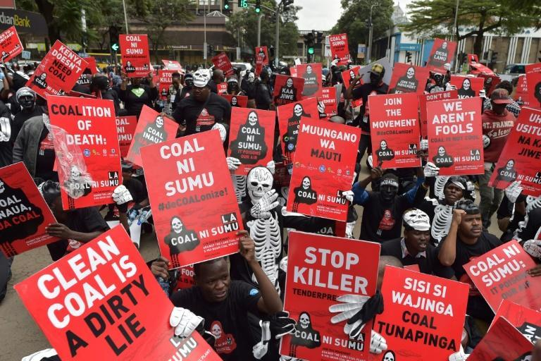 """""""Clean Coal Is a Dirty Lie"""": A 2018 Nairobi protest against a Kenyan government plan to mine coal near the pristine island of Lamu"""