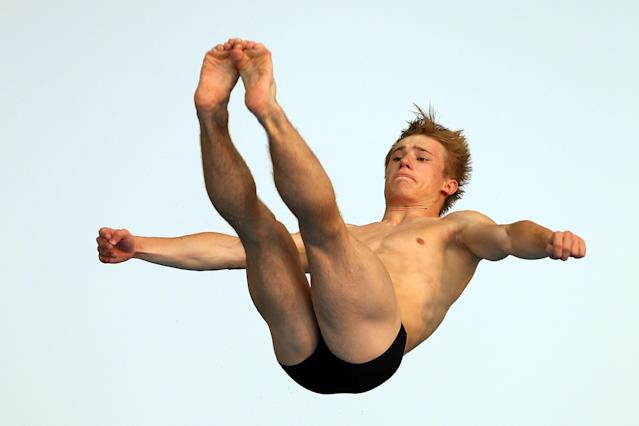 SHANGHAI, CHINA - JULY 22: Jack Laugher of Great Britain competes in the Men's 3m Springboard Final during Day Seven of the 14th FINA World Championships at the Oriental Sports Center on July 22, 2011 in Shanghai, China. (Photo by Clive Rose/Getty Images)