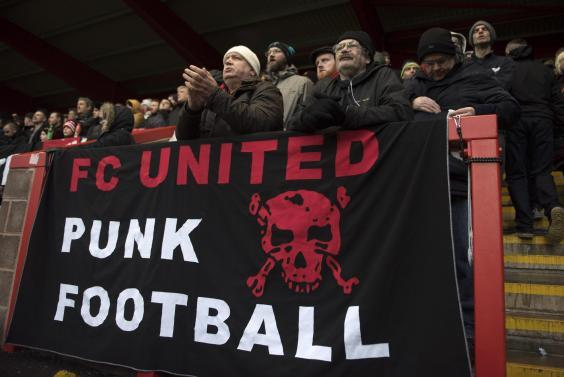 FC United supporters at Broadhurst Park (Getty Images)