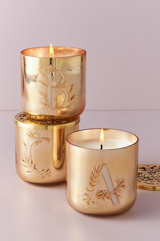 Holly Monogram Glass Candle is on sale for Black Friday.